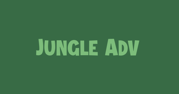 Jungle Adventurer font thumb