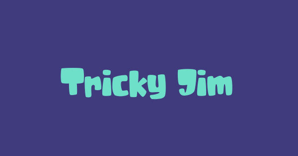 Tricky Jimmy font thumb