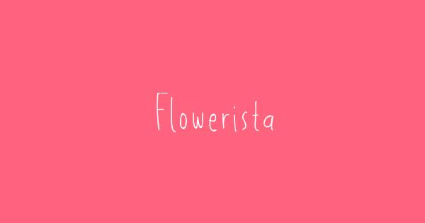 Flowerista font thumb