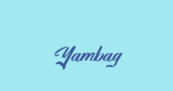 Yambag font thumb