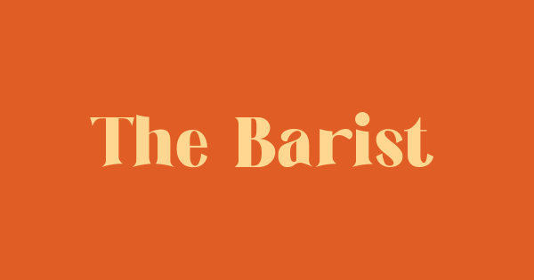 The Barista font thumb