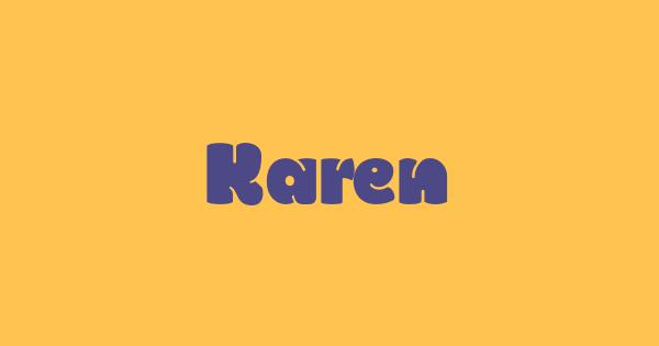 Karen font thumb