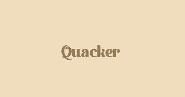 Quacker font thumb