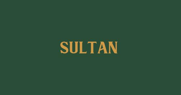 Sultan font thumb