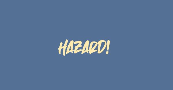 Hazard! font thumb