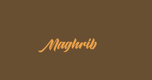 Maghrib font thumb