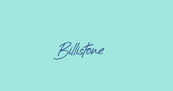 Billistone font thumbnail