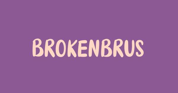Brokenbrush font thumb