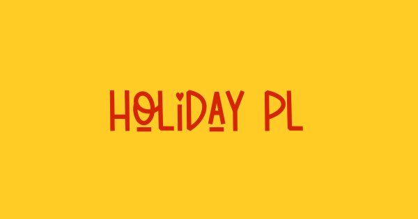Holiday Planner font thumb