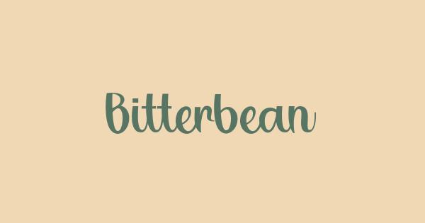 Bitterbeans font thumb