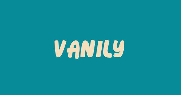 Vanily font thumb