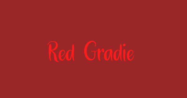 Red Gradient font thumb