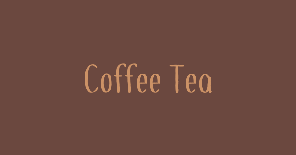 Coffee+Tea font thumb