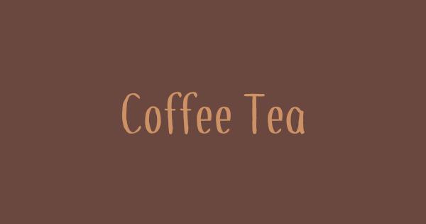 Coffee+Tea font thumbnail