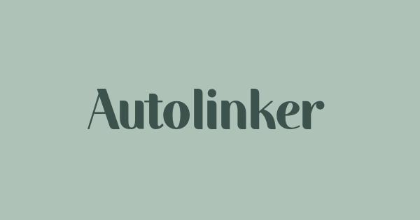 Autolinker font thumbnail
