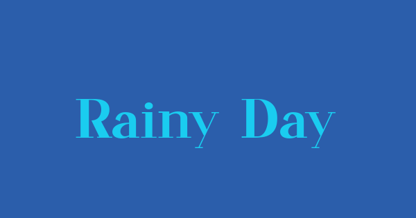 Rainy Day font thumb