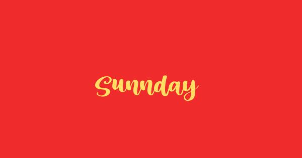 Sunnday font thumb
