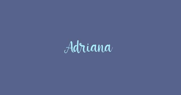 Adriana font thumb