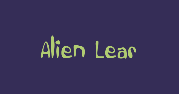 Alien Learns To Write font thumb