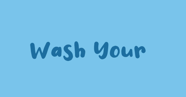 Wash Your Hand font thumb