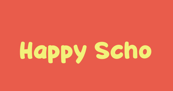 Happy School font thumb