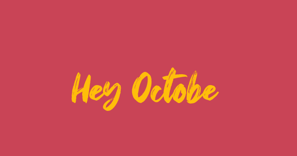 Hey October font thumb