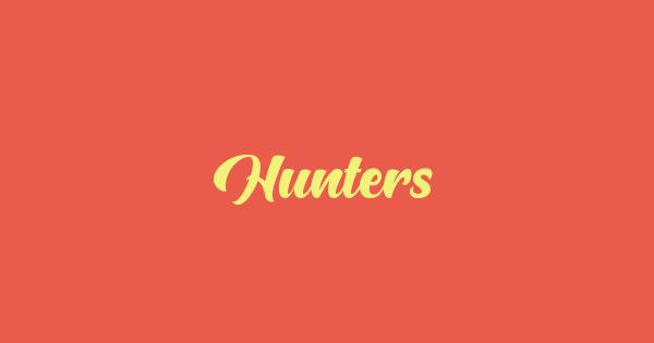 Hunters font thumb