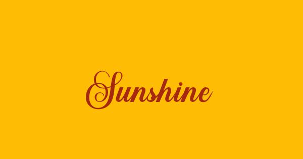 Sunshine font thumb