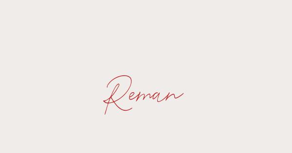 Reman font thumb