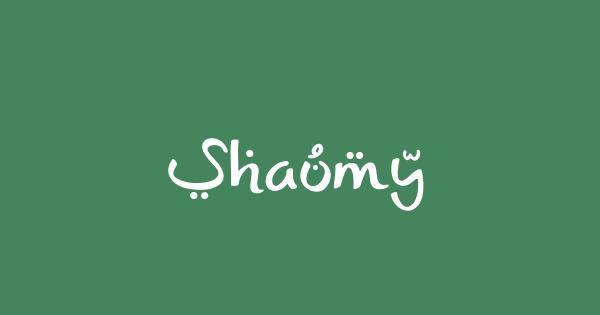 Shaumy font thumb