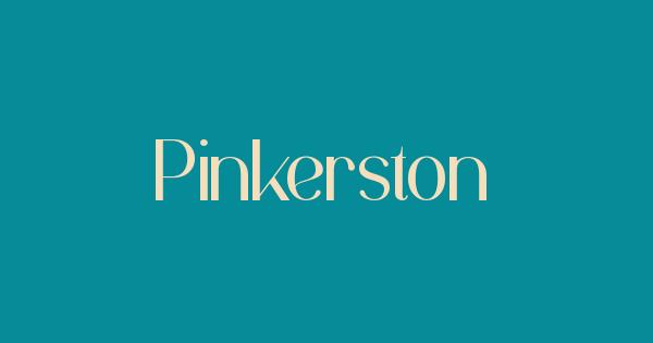 Pinkerston font thumb