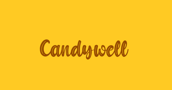 Candywell font thumb