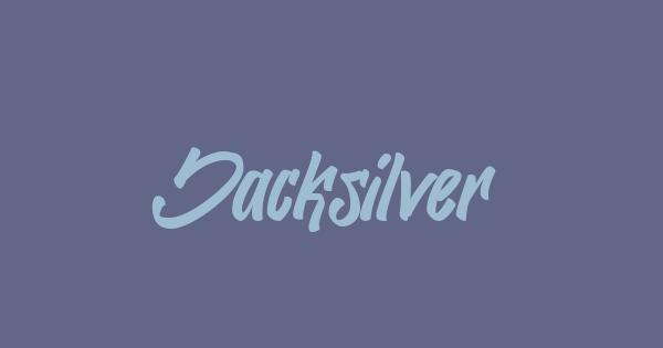 Jacksilver font thumb