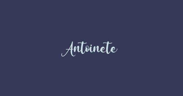Antoinete font thumb