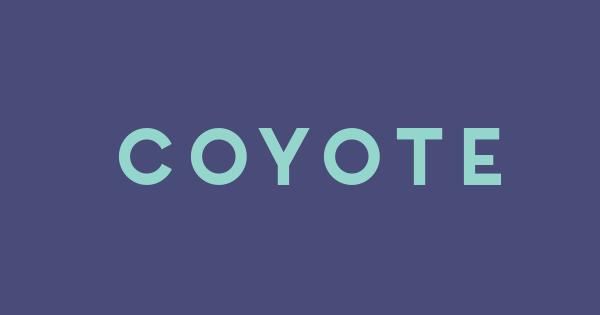Coyote font thumb