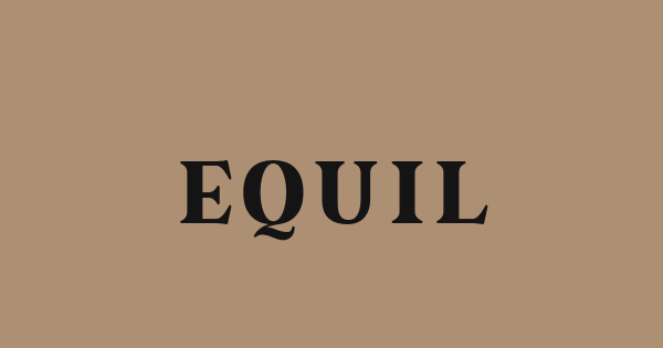 Equil font thumb