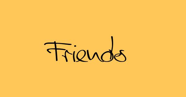 Friends font thumb