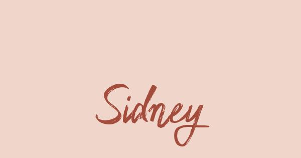 Sidney font thumb