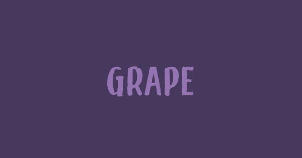 Grape font thumb