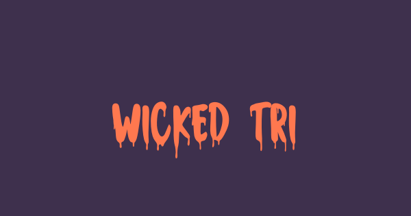 Wicked Tricker font thumb
