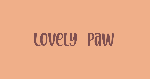 Lovely Paws font thumb