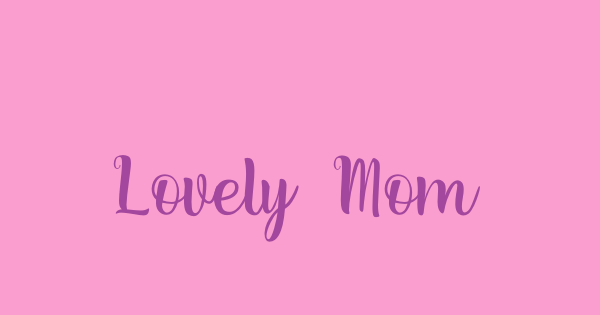 Lovely Moments font thumb