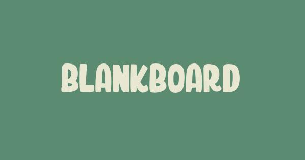 Blankboard font thumb