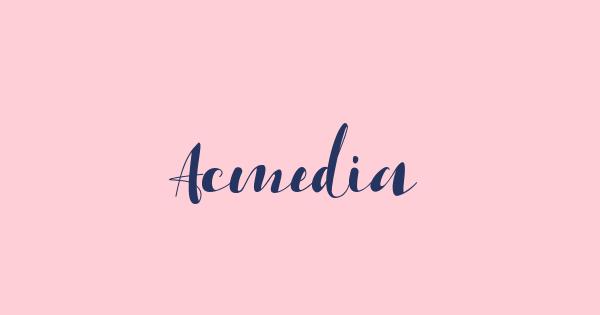 Acmedia font thumb