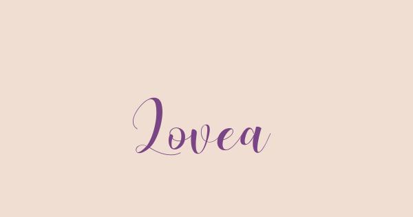 Lovea font thumbnail