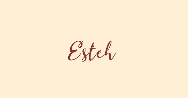 Esteh font thumbnail