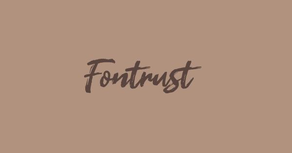Fontrust font thumbnail