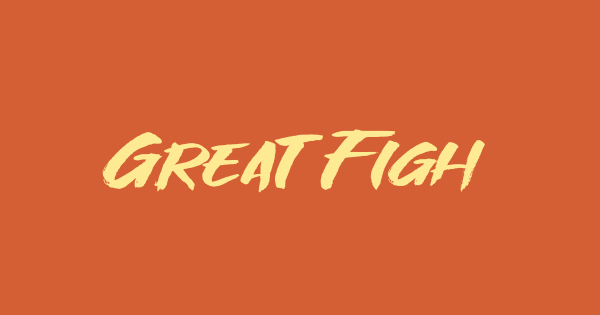Great Fighter font thumb