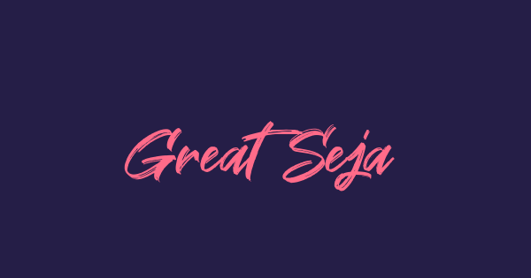 Great Sejagad font thumb