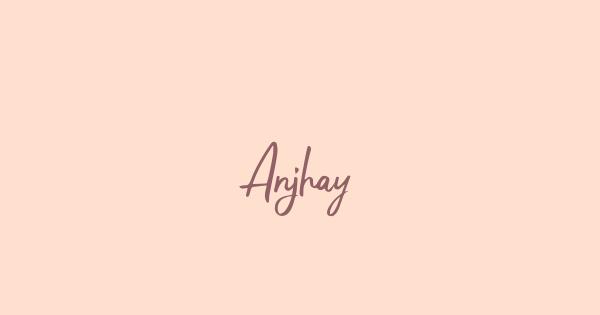Anjhay font thumbnail